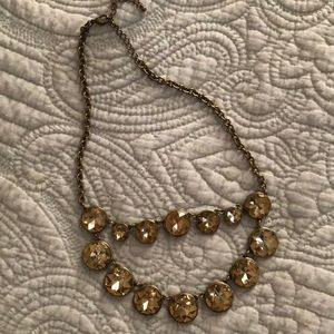 Brown and Gold LOFT Statement Necklace